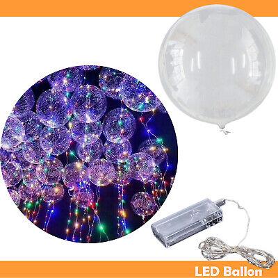 LED Lampe Luftballon Deko Für Hochzeit Helium Gas Party Dekoration Transparent