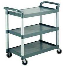 Zoro Select Rtrolley Poly Materials Dual Handle Utility Cart With Lipped