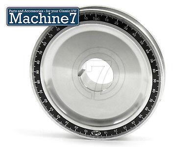 Classic VW Beetle Engine Crankshaft Pulley Wheel Timing Degrees Polished Black