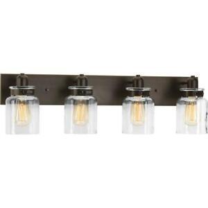 Details About Progress Lighting Calhoun Collection 30 25 In 4 Light Antique Bronze Bathroom