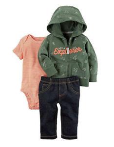 d12d75ba4 Carter's 3-Piece Little Explorer Jacket & Pants Set Baby Boy 3 ...
