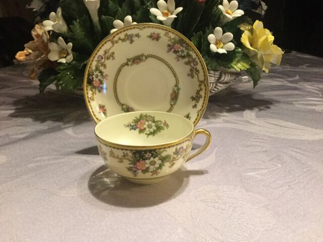 "Vintage Noritake Cup And Saucer Plate Cordova Pattern Japan Plate  5 1/2"" 1930's"