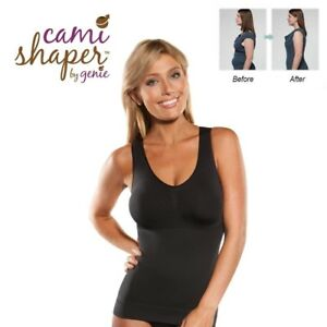 7f2b53f6b5ad7 Women Cami Body Shaper Genie Bra Top Slimming ShapeWear BodySuits ...