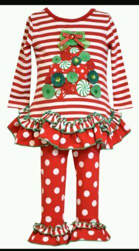 BONNIE JEAN Baby Girl Size 2T Christmas Tree Dress /& Legging Set MSRP $54.00
