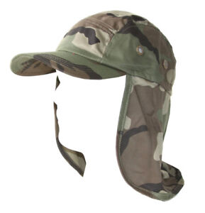 Top-Headwear-Vacationer-Flap-Hat-With-Full-Neck-Cover-Camoflauge