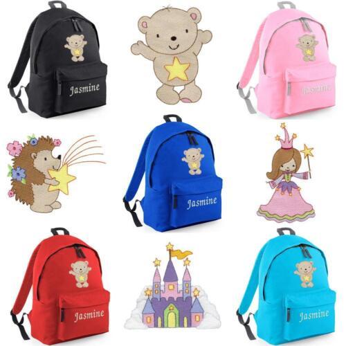 PERSONALISED EMBROIDERED JUNIOR STAR RUCKSACK/BACKPACK -princess bear school bag