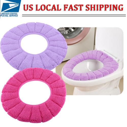 Bathroom Toilet Seat Warmer Cushion Soft Closestool Washable Cover Pad Mat US