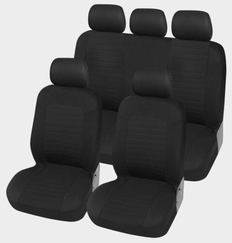 Auto-Sitzschoner Schonbezüge Sitzbezüge schwarz Set aus hochwertigem Polyester