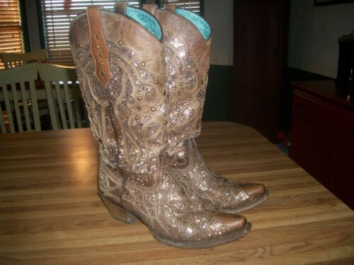 Ladies Corral Boots C3331 Orix Glitter Inlay & Stu