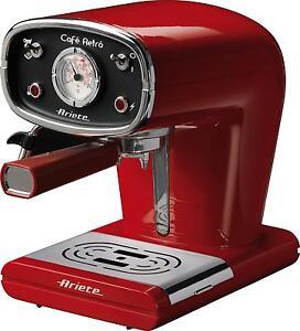 Macchina da caffè espresso Ariete 1388/1 Café Retrò rossa cialde macinato Rotex