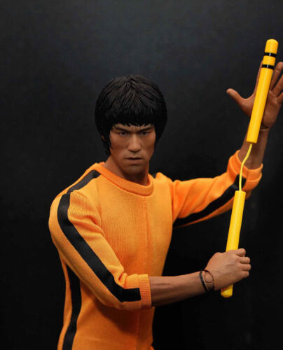 1//6 Scale Bruce Lee Head Sculpt For Hot Toys Enterbay Male Body