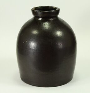 = Antique 19th C. Stoneware Jug/Jar American Tin Glazed Pottery Crock