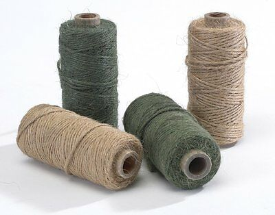 Crafts Floral 1 Roll Oasis Mossing Jute Twine String Tie- Green x 75m for Florist Plants Garden Flowers