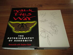AEROSMITH-PSA-signed-WALK-THIS-WAY-97-Book-TYLER-PERRY-KRAMER-WHITFORD-HAMILTON