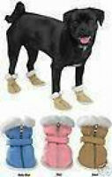 Casual Canine Sherpa Faux Suede Dog Boots Clearance Limited Sizes