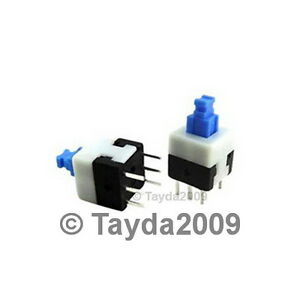3-x-PUSH-BUTTON-SWITCH-LATCHING-DPDT-0-5A-50VDC-6x6mm-FREE-SHIPPING
