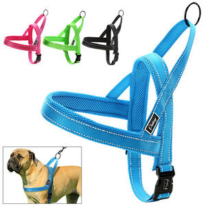 No Pull Reflective Stitching Pet Dog Harness Nylon Quick Fit Adjustable XXS-L