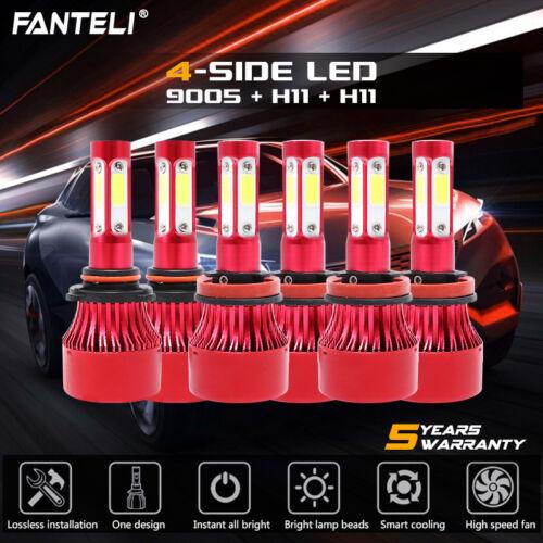 9005 H11 6000K 6720W 1008000LM Combo CREE LED Headlight Kit Hi Low Bulbs H11