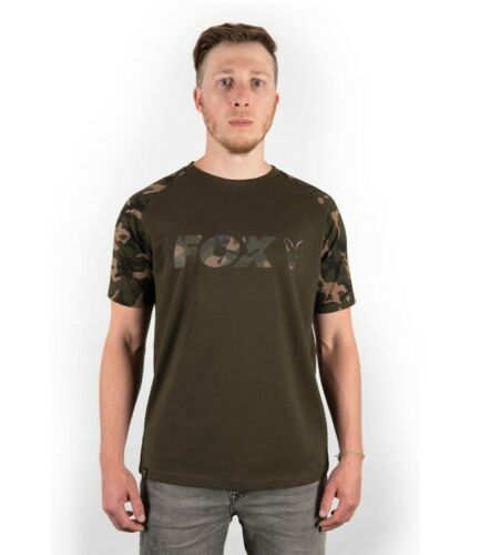 Fox Carp Fishing Clothing Black /& Camo Logo T Shirts All Sizes