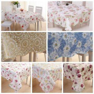 Waterproof pvc vinyl wipe clean tablecloth dining kitchen table image is loading waterproof pvc vinyl wipe clean tablecloth dining kitchen workwithnaturefo