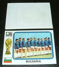 N°250 TEAM BULGARIE WM74 RECUPERATION PANINI FOOTBALL MÜNCHEN 74 MUNICH 1974