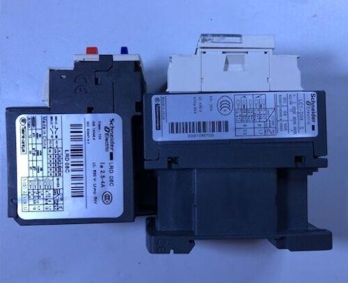 Schneider Motor Starter Assemble 9A Coil 120V Overload Relay 2.5-4Amp.
