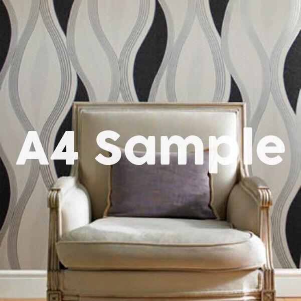 New White Silver Black Decoratively Textured Blown Vinyl
