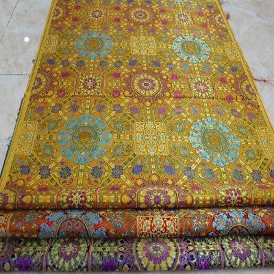 Brocade Fabric Mongolian Robe Jacquard Damask Tibetan Costume Material 73*100cm