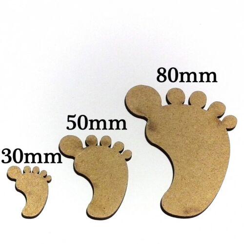 3mm MDF New Born Baby Feet Baby Shower Embellishments Craft /& Card Making Blanks