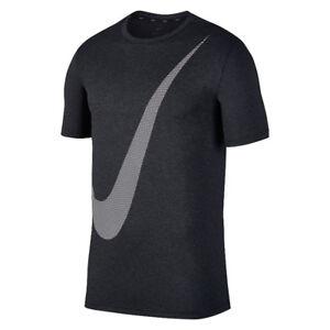 Détails sur Nike Breathe Logo Hyper Dry Training Tee New Dark Grey Men Sportswear AJ6881 010