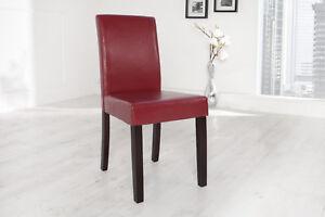 Sedie Per Sala Da Pranzo : Sedia sala da pranzo levante rosso bordeaux pelle sintetica pino
