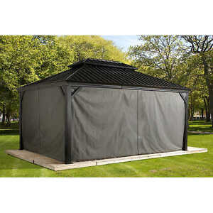 Image Is Loading Sojag Messina Sun Shelter Gazebo Curtains Privacy Shade