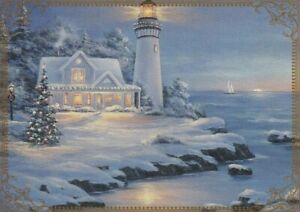Modern-Wide-Lighthouses-P6-Lighthouse-Xmas-Scene-Swap-Playing-Card