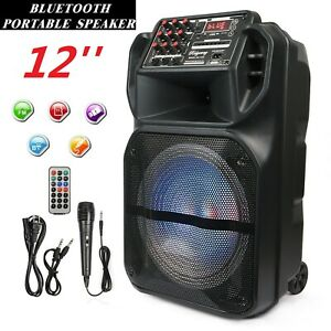 Portable-12-Inch-Bluetooth-Wireless-Speaker-Loud-Bass-Sound-Stereo-W-Remote-MIC