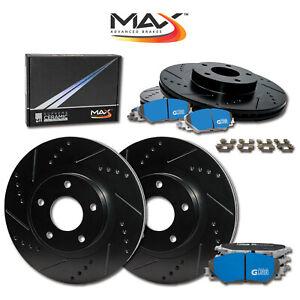 F-R-Rotors-w-M1-Ceramic-Pads-Elite-Brakes-2001-2006-Fit-Lexus-LS430