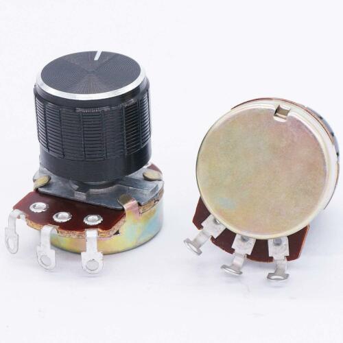 TWTADE 3pcs wh138 10k ohm Potentiometer Single Turn Rotary Linear Variable Pot