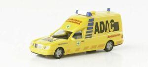 Herpa-H0-045544-Mercedes-Benz-W-210-BINZ-KTW-ambulancia-ADAC