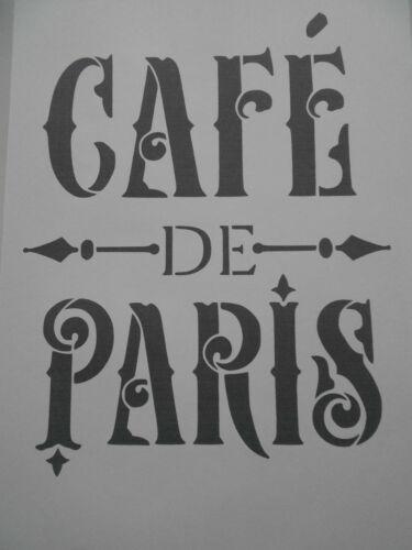 Schablone Cafe de Paris1 auf A4