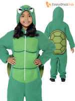Age 4-12 Kids Turtle Onesie Childs Boys Book Week Day Animal Fancy Dress Costume