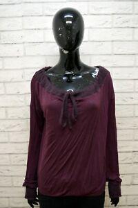 Maglione-MAX-amp-CO-Donna-Taglia-L-Pullover-Cardigan-Sweater-Woman-Viola-Cashmere
