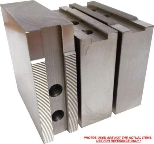 "ht=4/"" Kitagawa, Samchully KT-10400F Steel Soft Jaws For a 10/"" Chuck 3pc set"