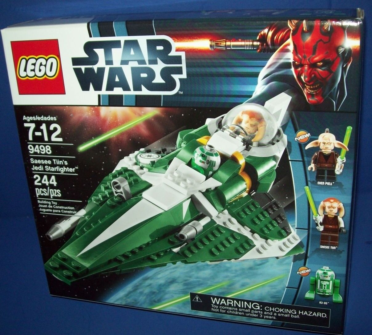 LEGO 9498 Saesee Tiin's Jedi Starfighter Star Wars Retired NISB sealed