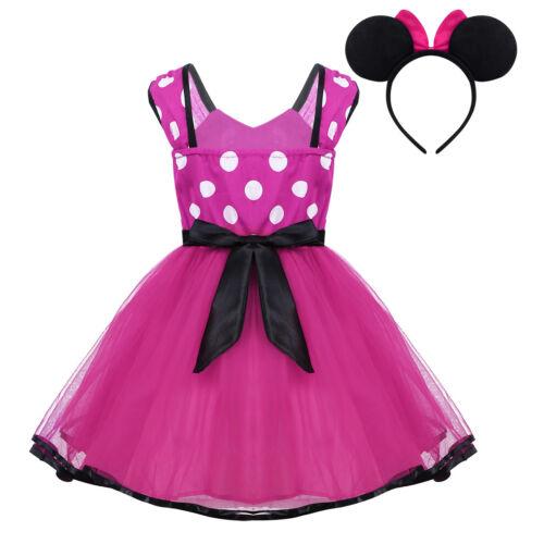 Toddler Kids Girl Cartoon Mouse Princess Party Casual Tutu Dress Outfits Costume