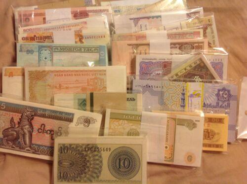 UNC From Bundle 30 Pcs Different World Paper Money Set//Lot