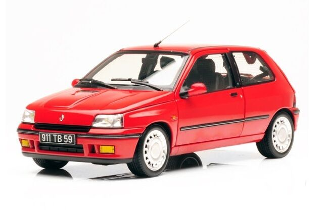 Renault Clio 16S  rosso  1991 (Norev 1 18   185231)