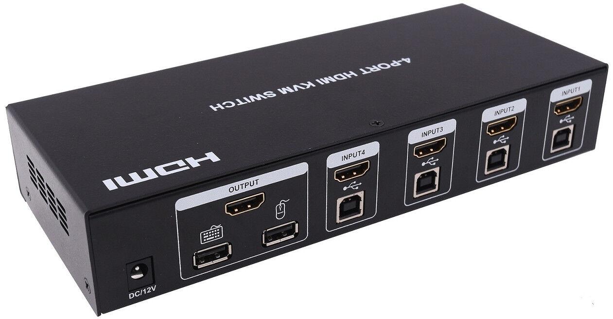 4x1 4-port HDMI USB 2 0 KVM Switch Switcher Full HD 1080p Keyboard Video  Mouse