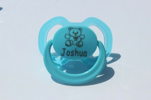 Dummy Soother PERSONALISED DUMMY *ORTHODONTIC TEAT* Personalised Dummy Clip