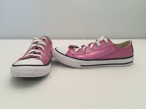 Details about Converse All Star Chuck Taylor Girls Pink Glitter Shoes size 3 Y