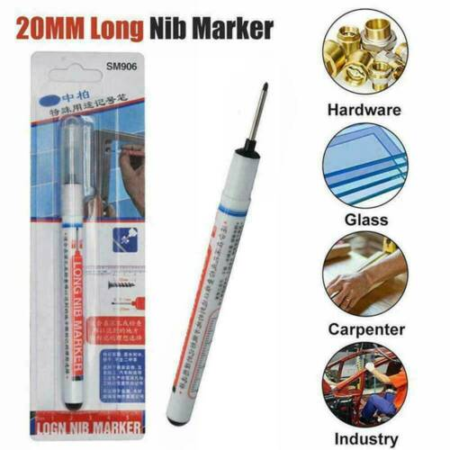 20mm Tips Long Head Marker Pens Multi-purpose Woodworking Deep Hole Marker Pen !