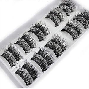 Cheap-Natural-10-Pairs-100-Real-Mink-Hair-Thick-False-Eyelashes-Strip-Lashes
